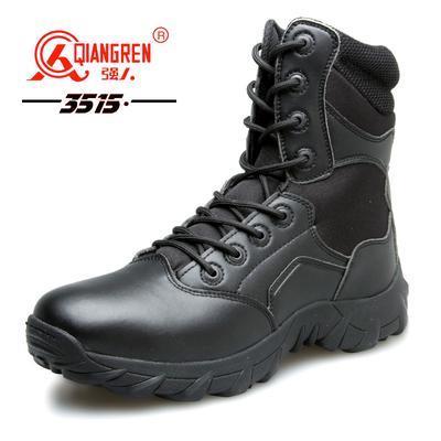 3515强人军靴07真皮作战靴高帮户外登山靴子男特种兵战术靴沙漠靴