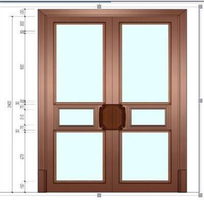 铜门  地弹簧门