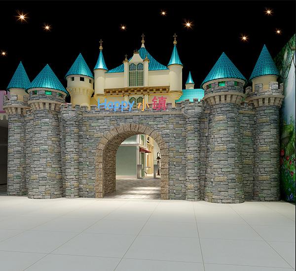"""""""奇奇梦想城""""城堡大门效.."""