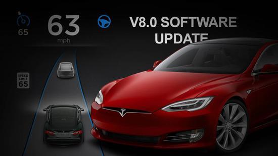特斯拉v8.0固件版本提前曝光 UI更新成..