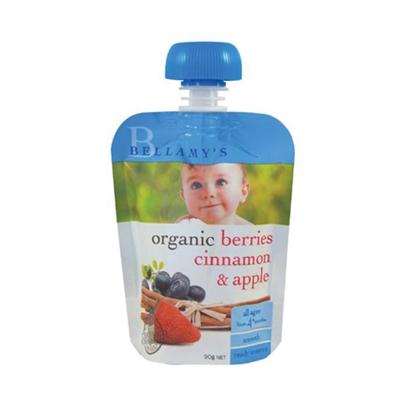 Bellamy's 贝拉米 有机果泥 蓝莓肉桂苹果 4m+