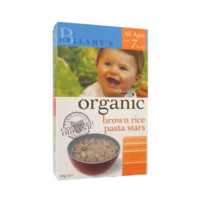Bellamy's 贝拉米 Organic Brown Rice Pasta Stars 糙米星形意面