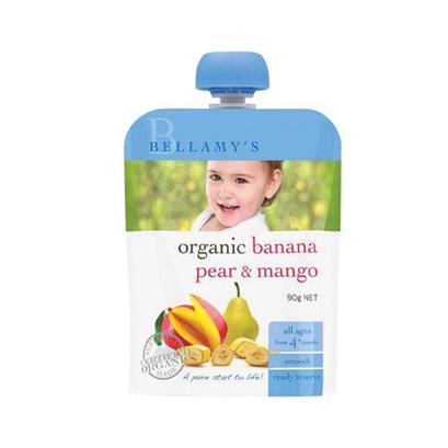 Bellamy 贝拉米有机果泥 香蕉梨芒果 4m+