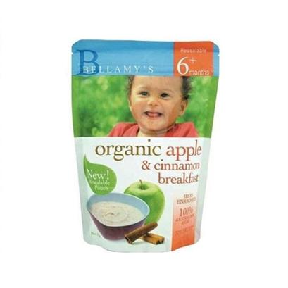 Bellamy's 贝拉米 Organic Apple Cinnamon Porridge 苹果肉桂麦片米糊粥 6m+1
